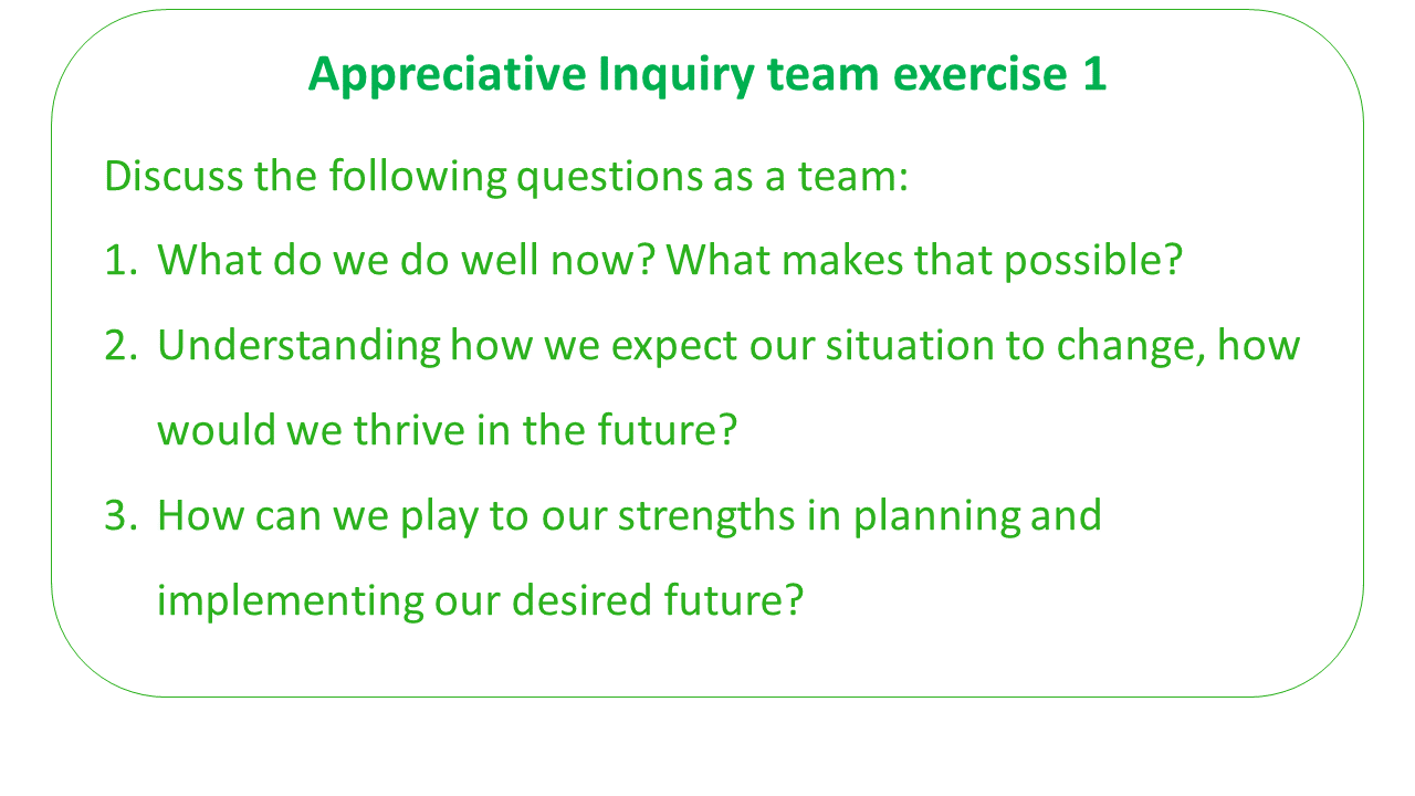 How to Do Appreciative Inquiry Team Building